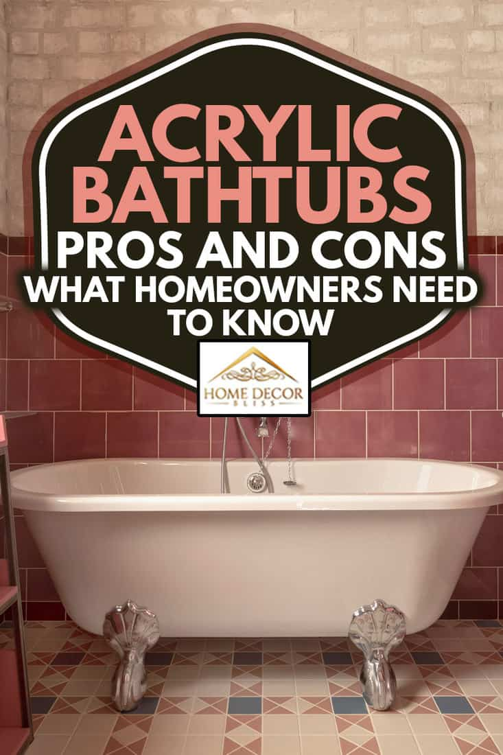 Empty acrylic bathtub with hand shower, Acrylic Bathtubs Pros And Cons: What Homeowners Need To Know