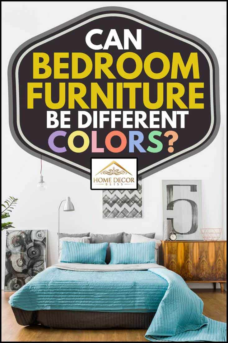 Spacious modern bedroom with paintings and a cabinet, Can Bedroom Furniture Be Different Colors?
