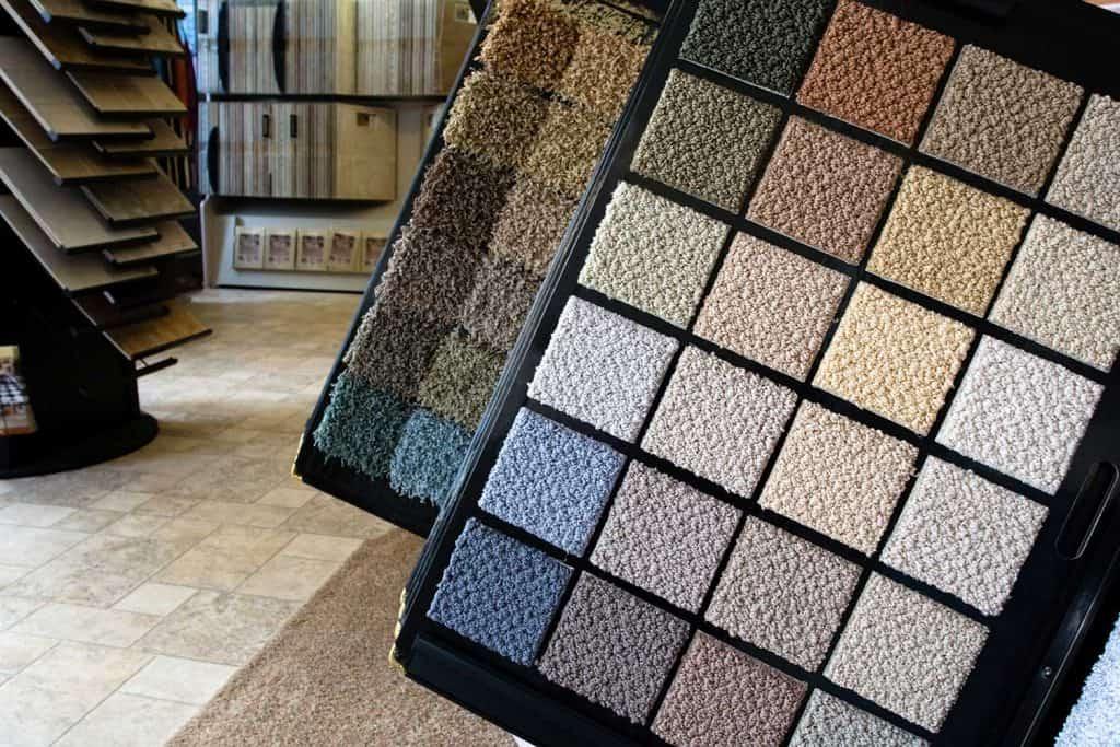 Carpet displayed in retail flooring store