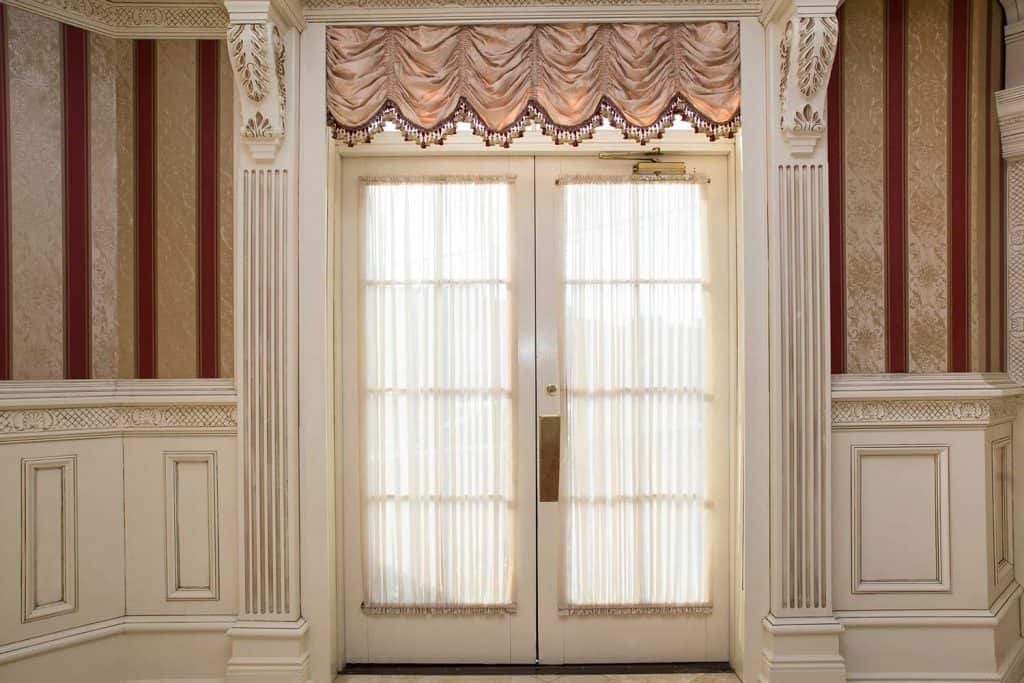 Double-glazed glass door of a luxury home