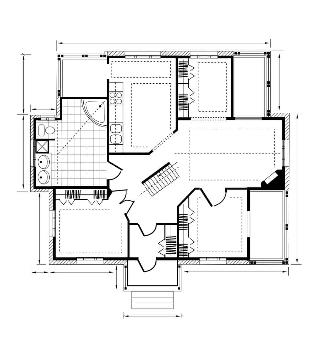 Home blue print design on Where Should Stairs Be Located In A House