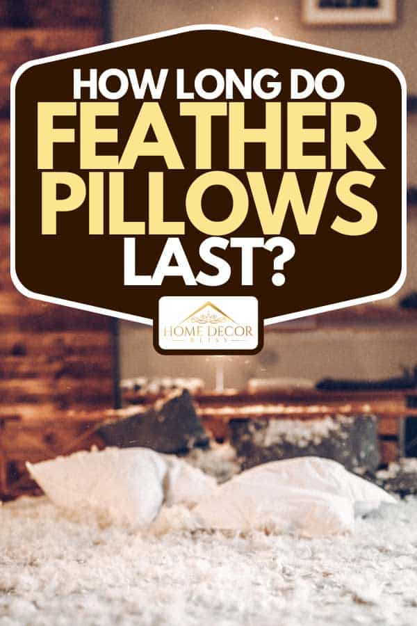 Feathers from feather pillows on bed, How Long Do Feather Pillows Last?