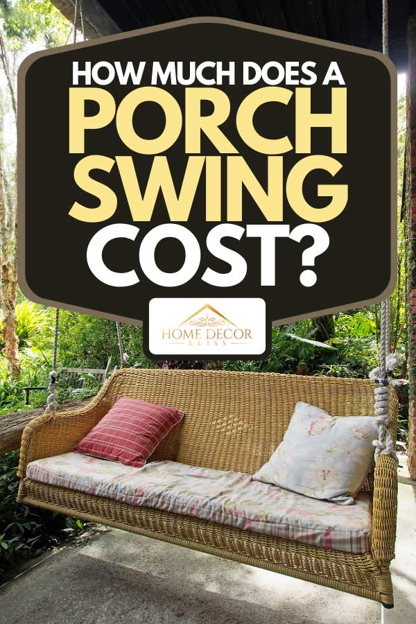 A front porch swing with throw pillows, How Much Does A Porch Swing Cost?