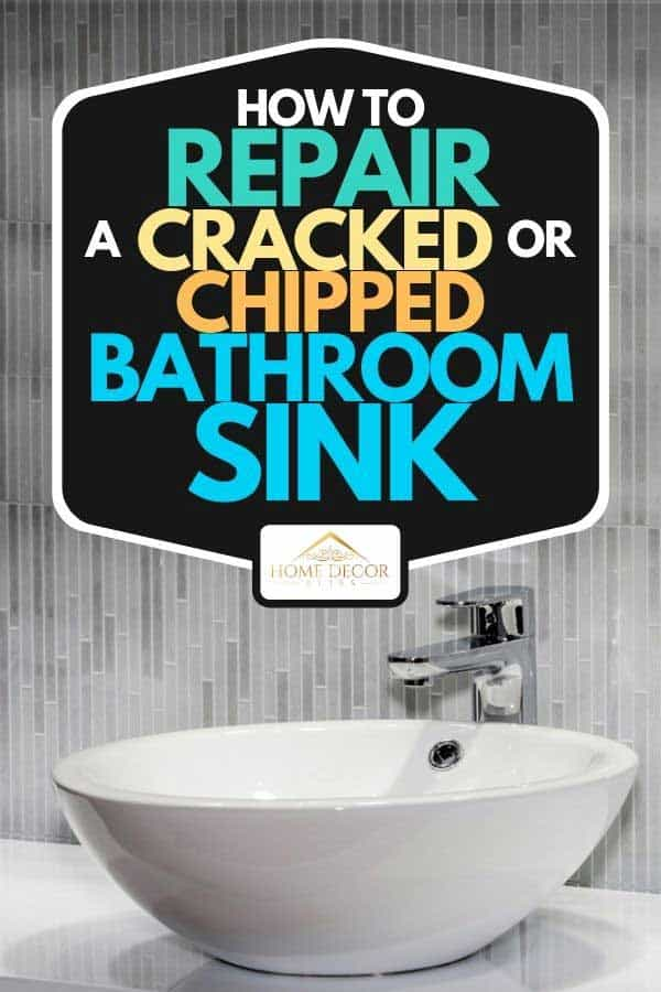 A modern white sink in bathroom interior, How To Repair A Cracked Or Chipped Bathroom Sink