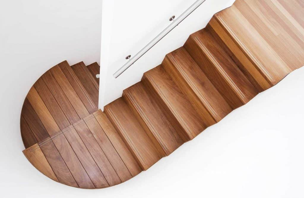 Luxurious wooden staircase