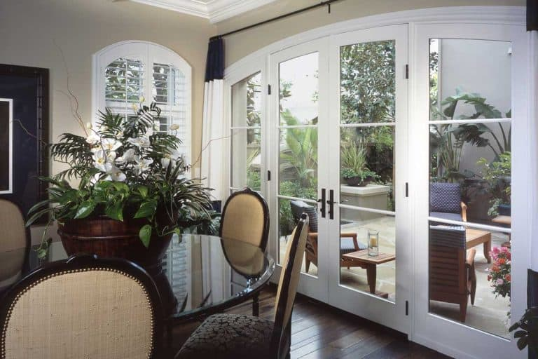 Modern dining room interior design with French door, How to Install French Doors in an Existing Opening