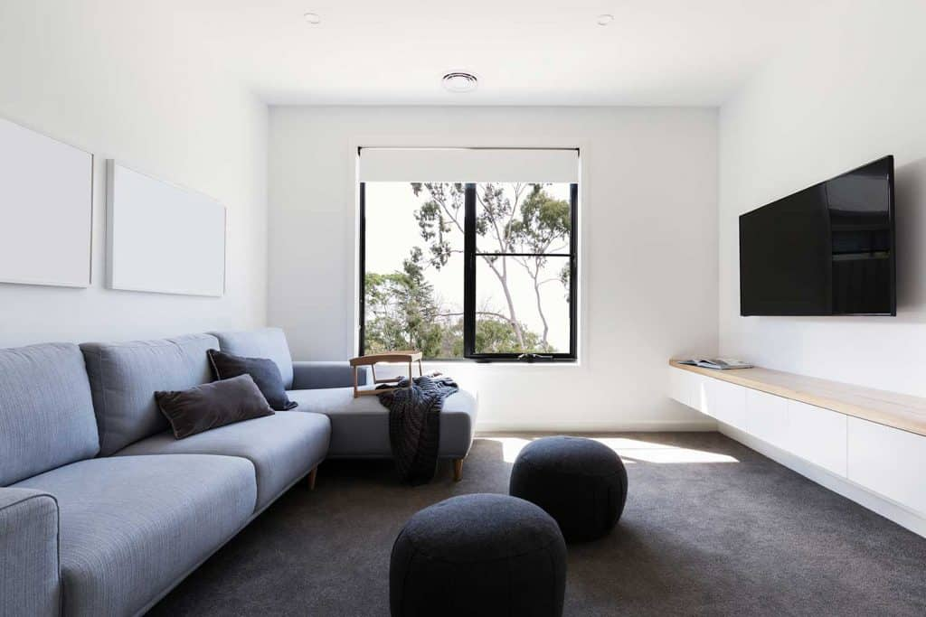 Modern casual living room in a contemporary home