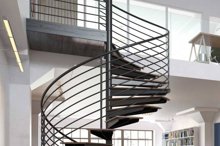 Modern loft apartment with spiral stairs, Which Type of Stairs Take Up The Least Space?