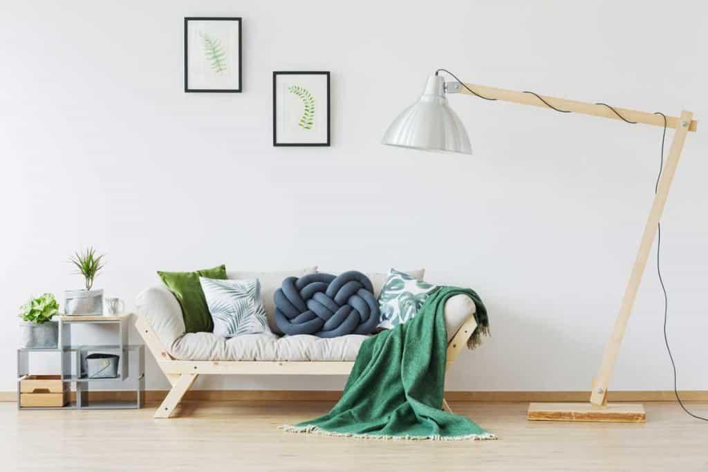Oversize lamp in scandi and modern interior