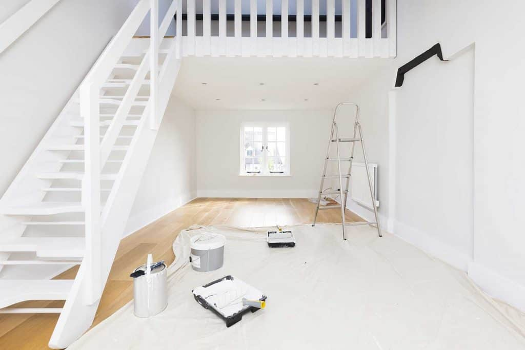 Painting and decorating an apartment room
