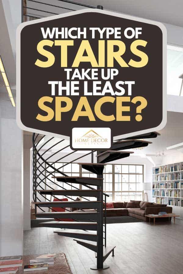 Sarmal merdivenli modern bir loft daire, Hangi Merdiven Türleri En Az Yer Kaplıyor?