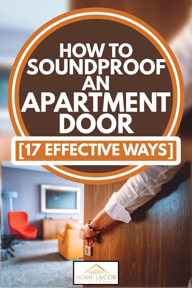 hand opening an apartment door, How To Soundproof An Apartment Door [17 Effective Ways]