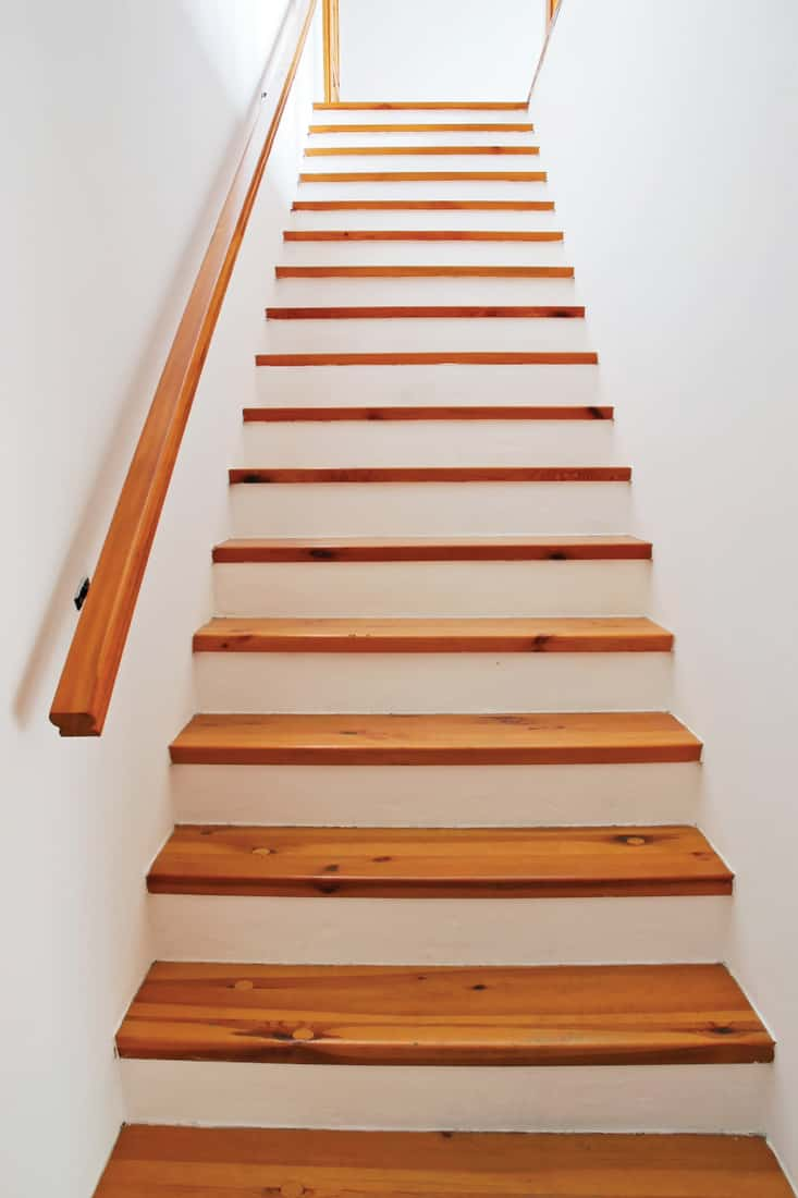 Staircase with wooden tread