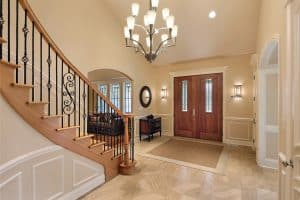 How Close Can Stairs Be To The Front Door?