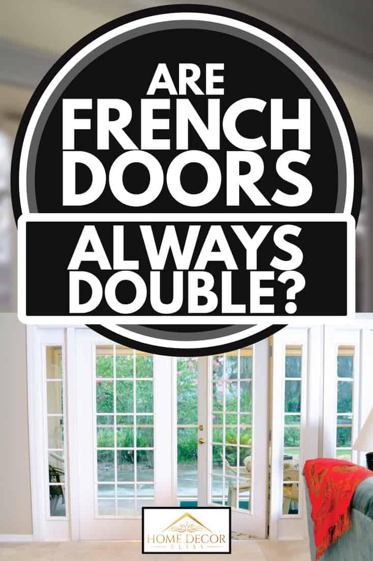 white french door with dark wooden floor, are french doors always double