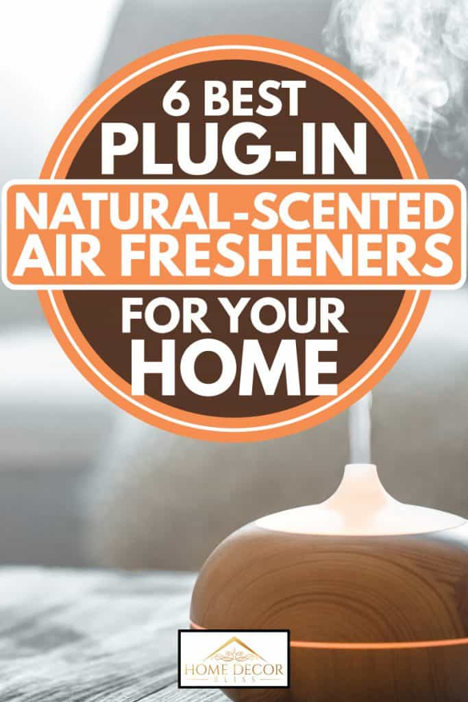 Wooden themed plug-in scent diffuser turned on and functioning, 6 Best Plug-In Natural-Scented Air Fresheners For Your Home