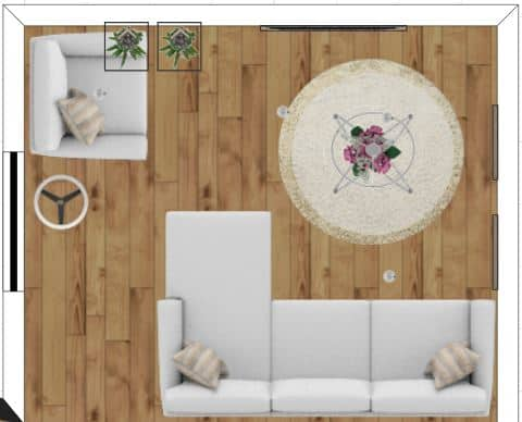 Room layout with sectional