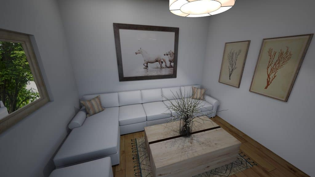 Layout 4: Sectional in small living room