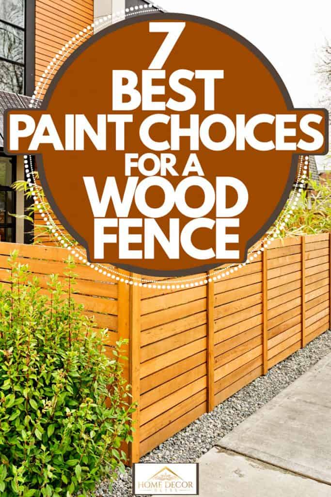 A modern contemporary house with solar panels on the second floor with brown painted wooden fence, 7 Best Paint Choices for a Wood Fence