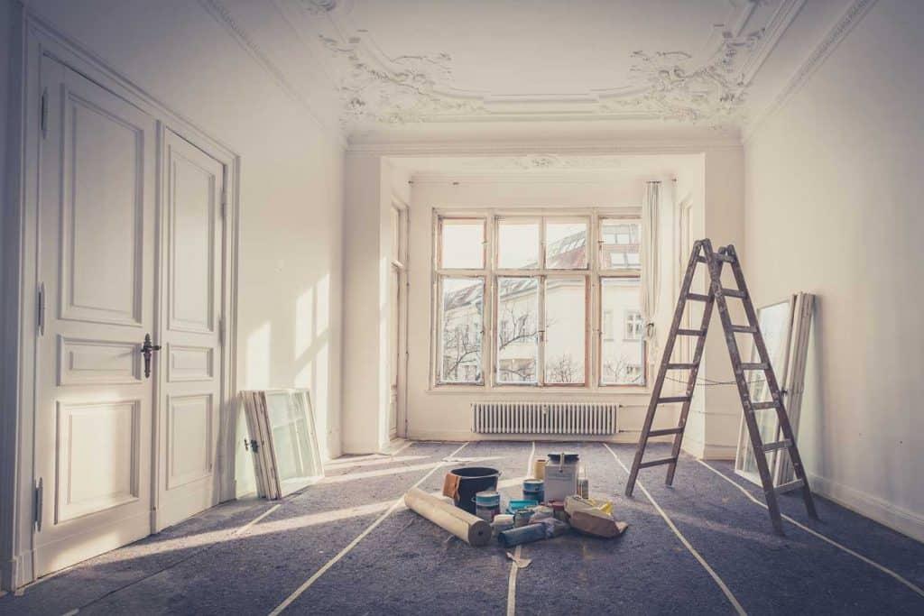 Apartment during restoration