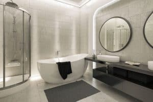 Read more about the article 25 Grey and White Bathrooms