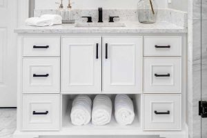 How Deep Are Bathroom Cabinets? [Typical depth by cabinet size]