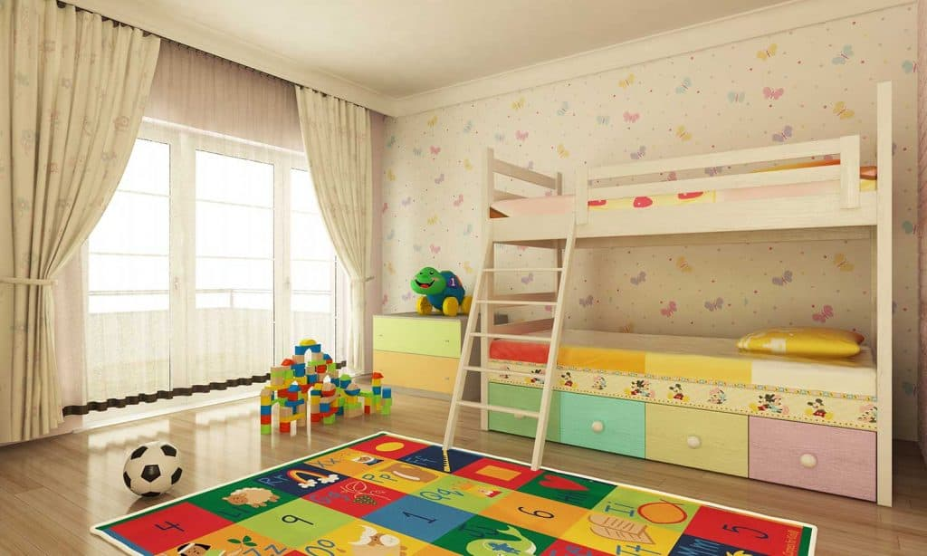 Colorful child room design