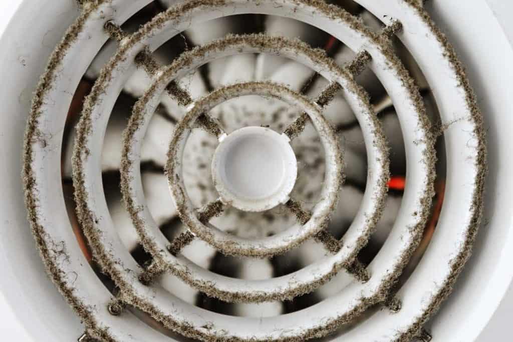Dusty built-in exhaust fan