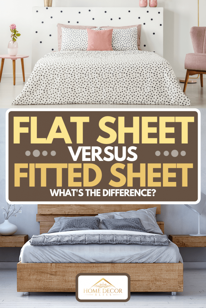 A collage of flat sheet and fitted sheet of a bed, Flat Sheet Vs. Fitted Sheet - What's the Difference?