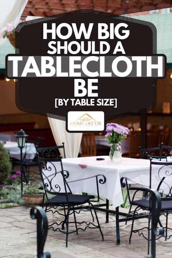 A fine banquet table setting with bouquet in outdoor restaurant, How Big Should A Tablecloth Be [By Table Size]
