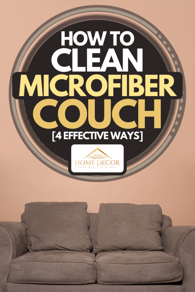 A brown microfiber couch in an orange room, How to Clean Microfiber Couch [4 Effective Ways]
