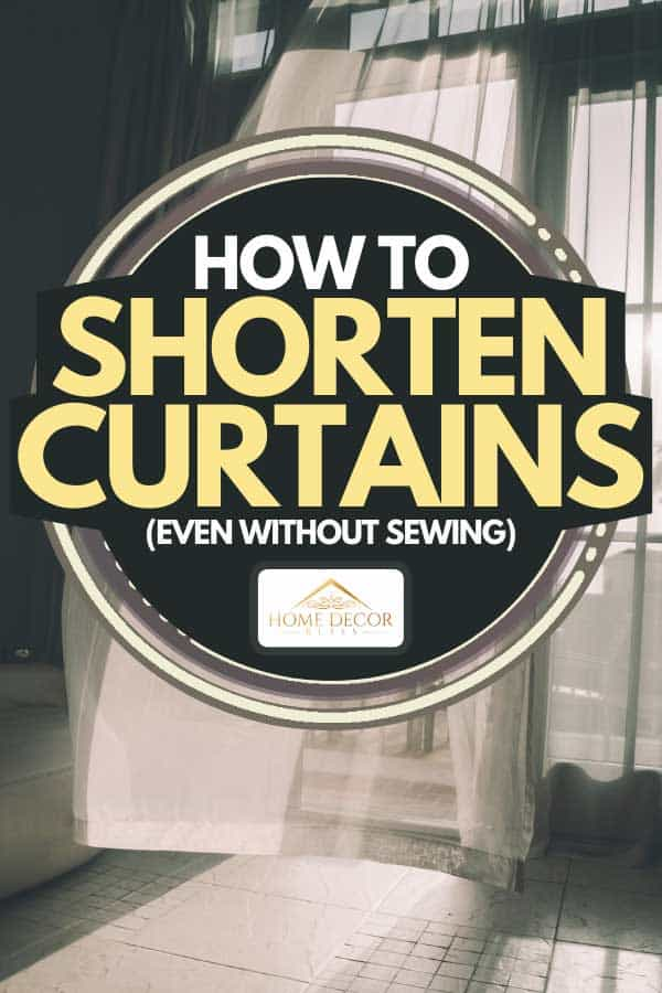 An open door with fresh air and curtain on the wind, How To Shorten Curtains (Even Without Sewing)