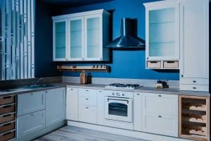 What Color Cabinets Go With Blue Walls?