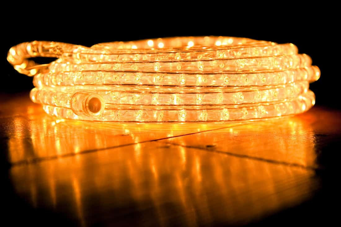 Rope lights close up