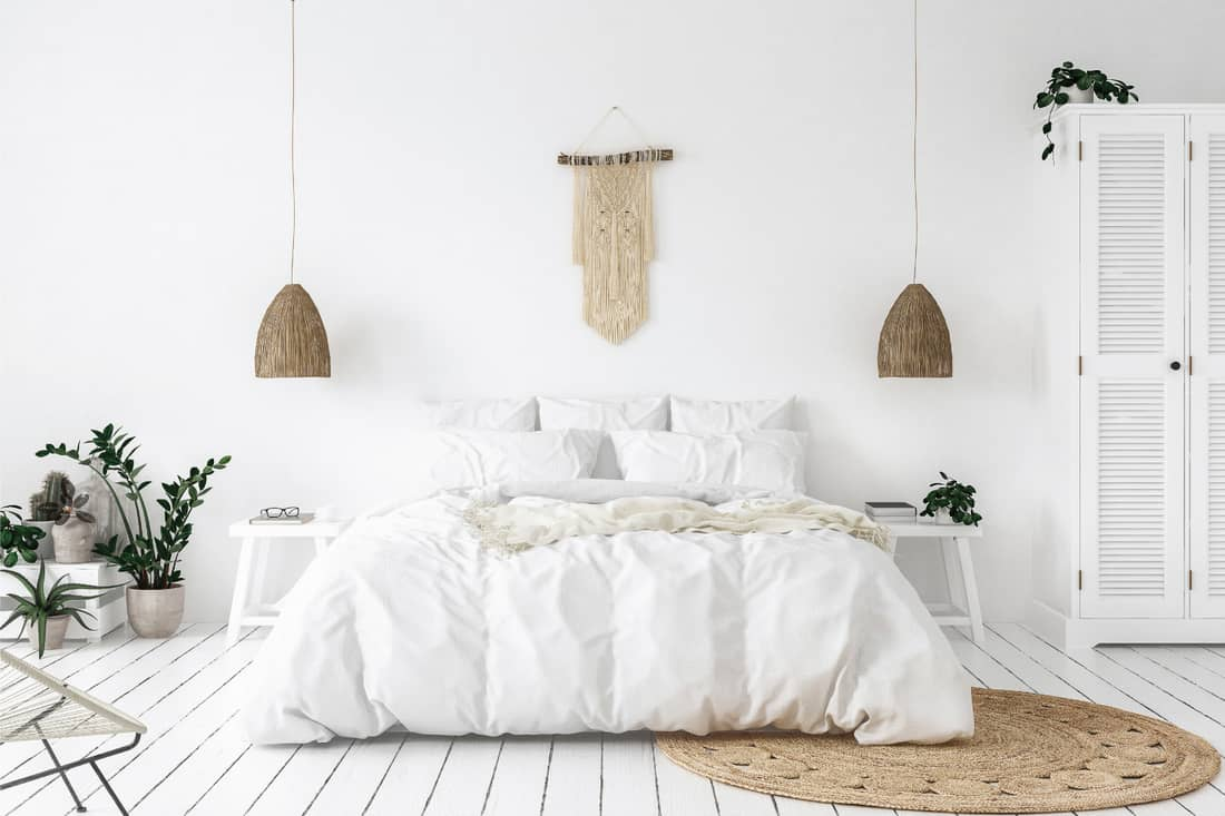 Scandi-boho style hanging decors in the bedroom