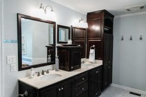 How To Restain Bathroom Cabinets [5 Steps]