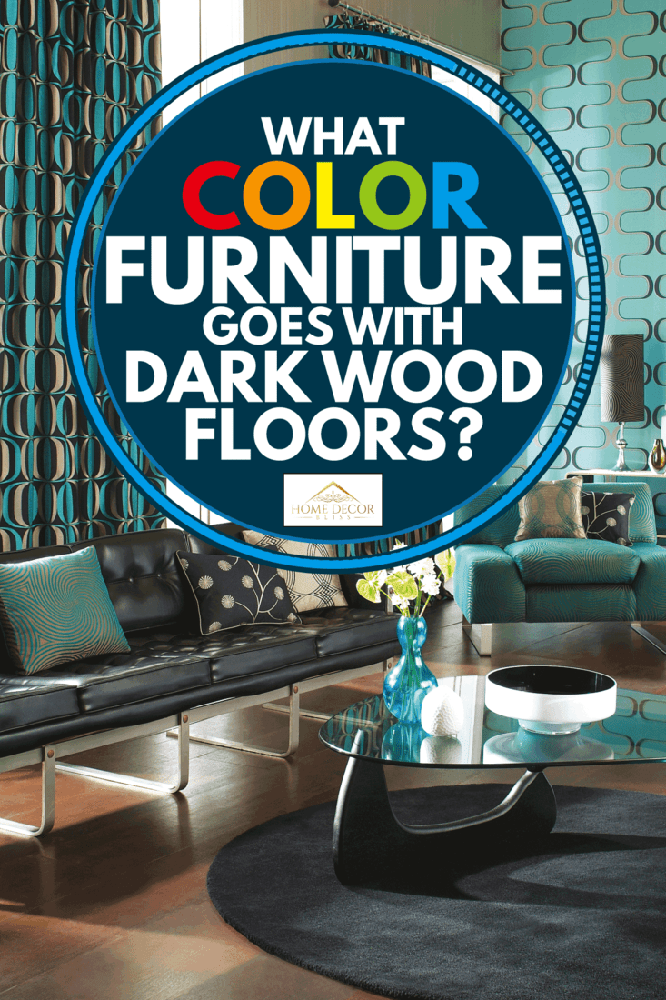 colorful interior of a modern living room with mix color furniture, What Color Furniture Goes With Dark Wood Floors