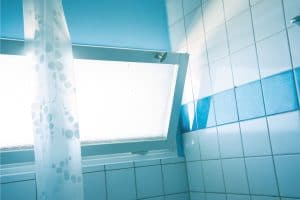 What Color Shower Curtain With Blue Walls?