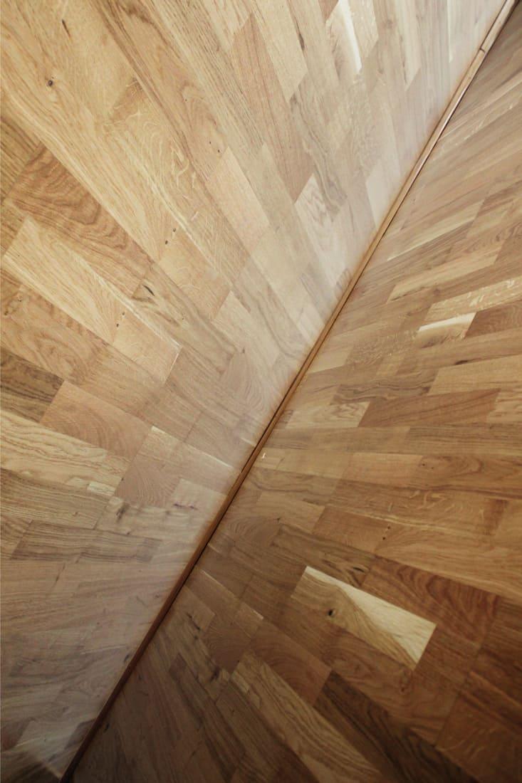 Natural douglas fir used as hardwood porch flooring