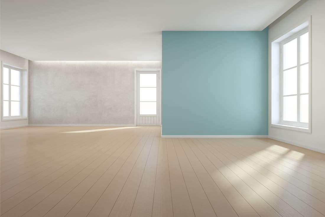 Newly painted room without furniture