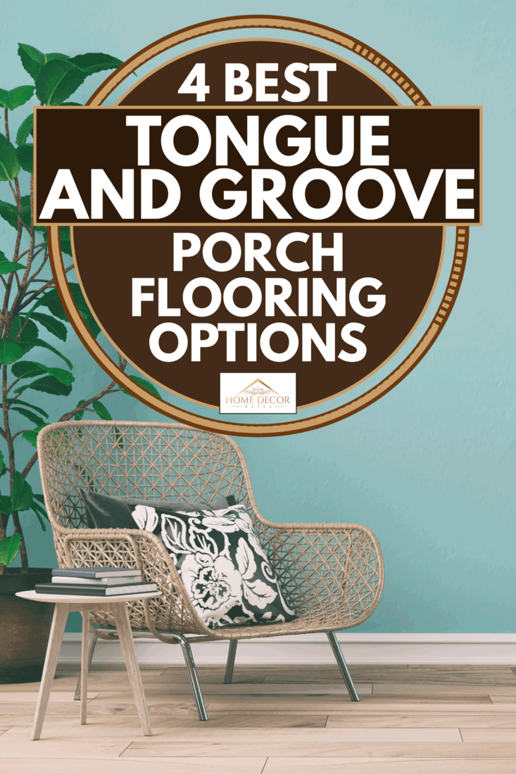 Porch chair on a hardwood floor porch, 4 Best Tongue and Groove Porch Flooring Options