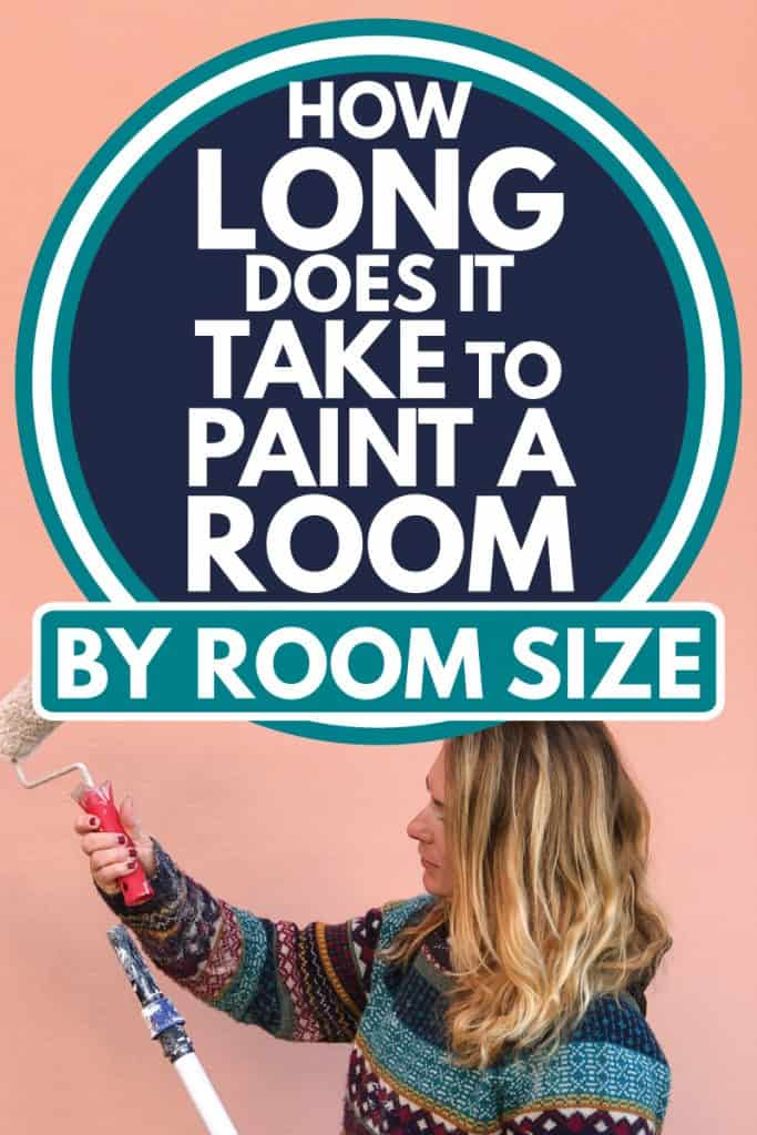 Woman in sweaters attaching a paint roller to an extension pole, How Long Does It Take To Paint A Room [By Room Size]