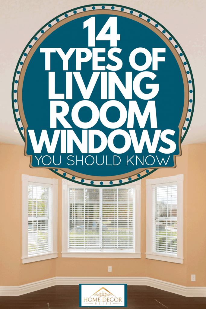 Cream painted walls and a bay window of a empty living room, 14 Types Of Living Room Windows You Should Know