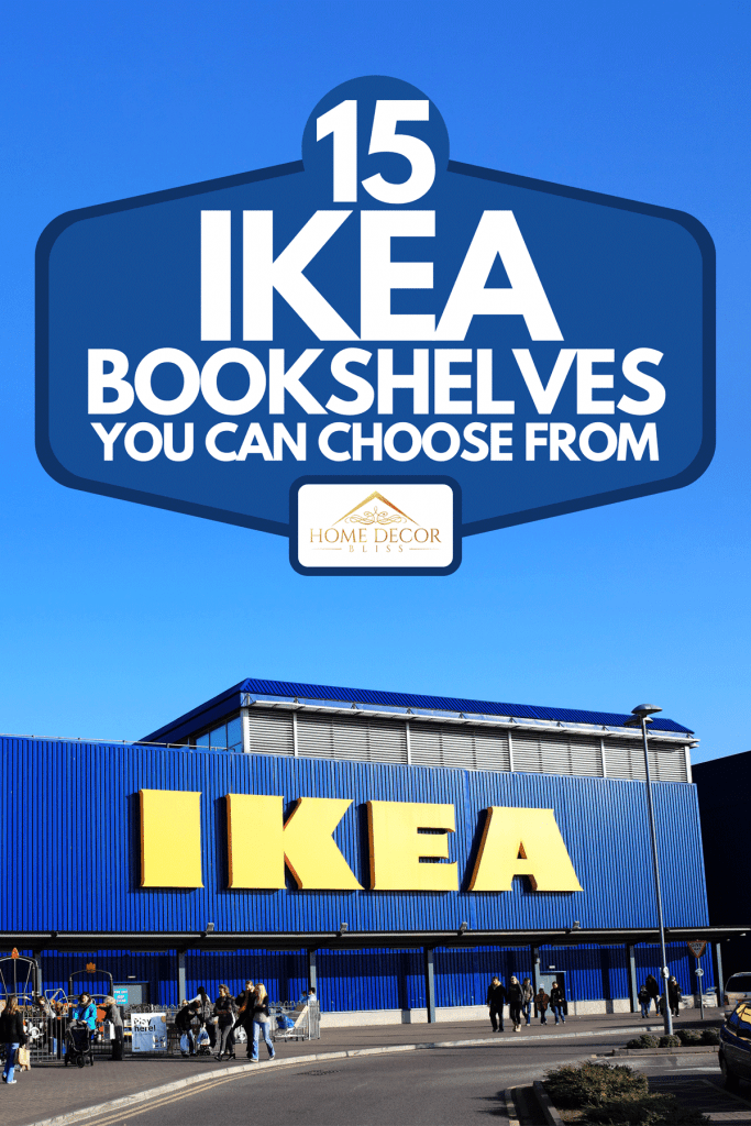 Large IKEA logo in IKEA furniture retail store, 15 Ikea Bookshelves You Can Choose From