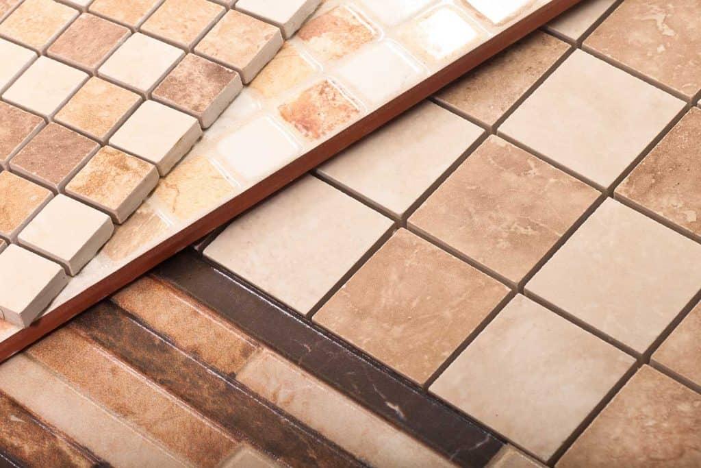 A set of ceramic tiles