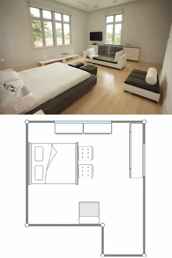 11 Bedrooms With A Couch Layouts - Home Decor Bliss