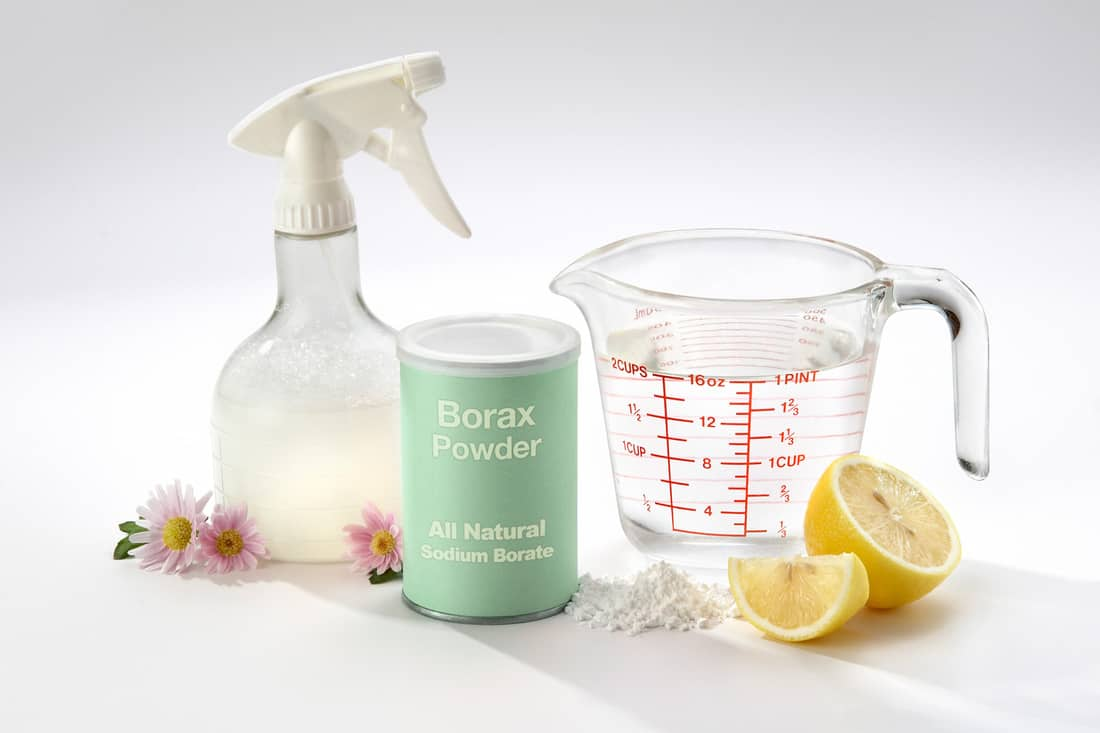 An all natural, organic household disinfectant. Ingredients include lemon juice, Borax powder and water. Mix well and put into spray bottle.