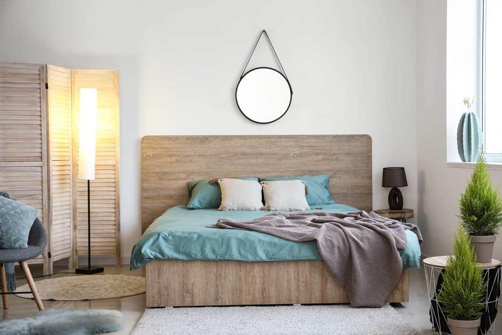 Beautiful interior of modern bedroom