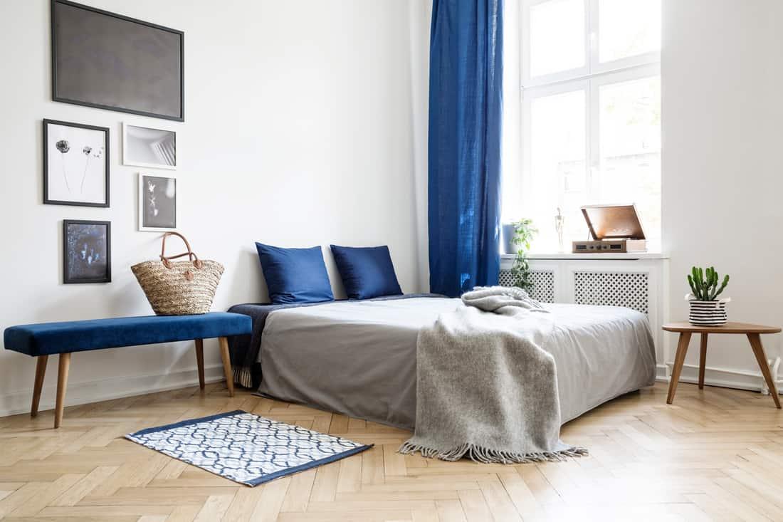 Bedroom design in modern apartment