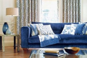 What Curtains Go With A Blue Couch?